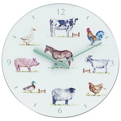 Country Life Farm Glass Clock