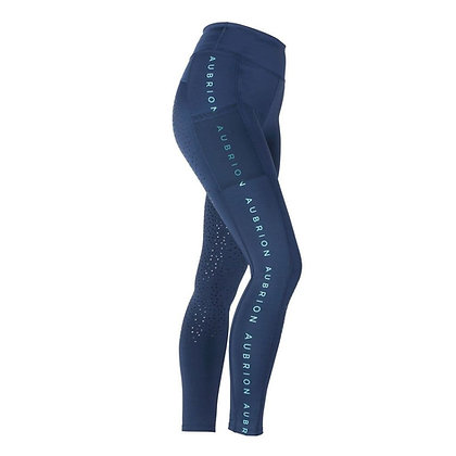 Shires Adult Aubrion Brook Logo Riding Tights