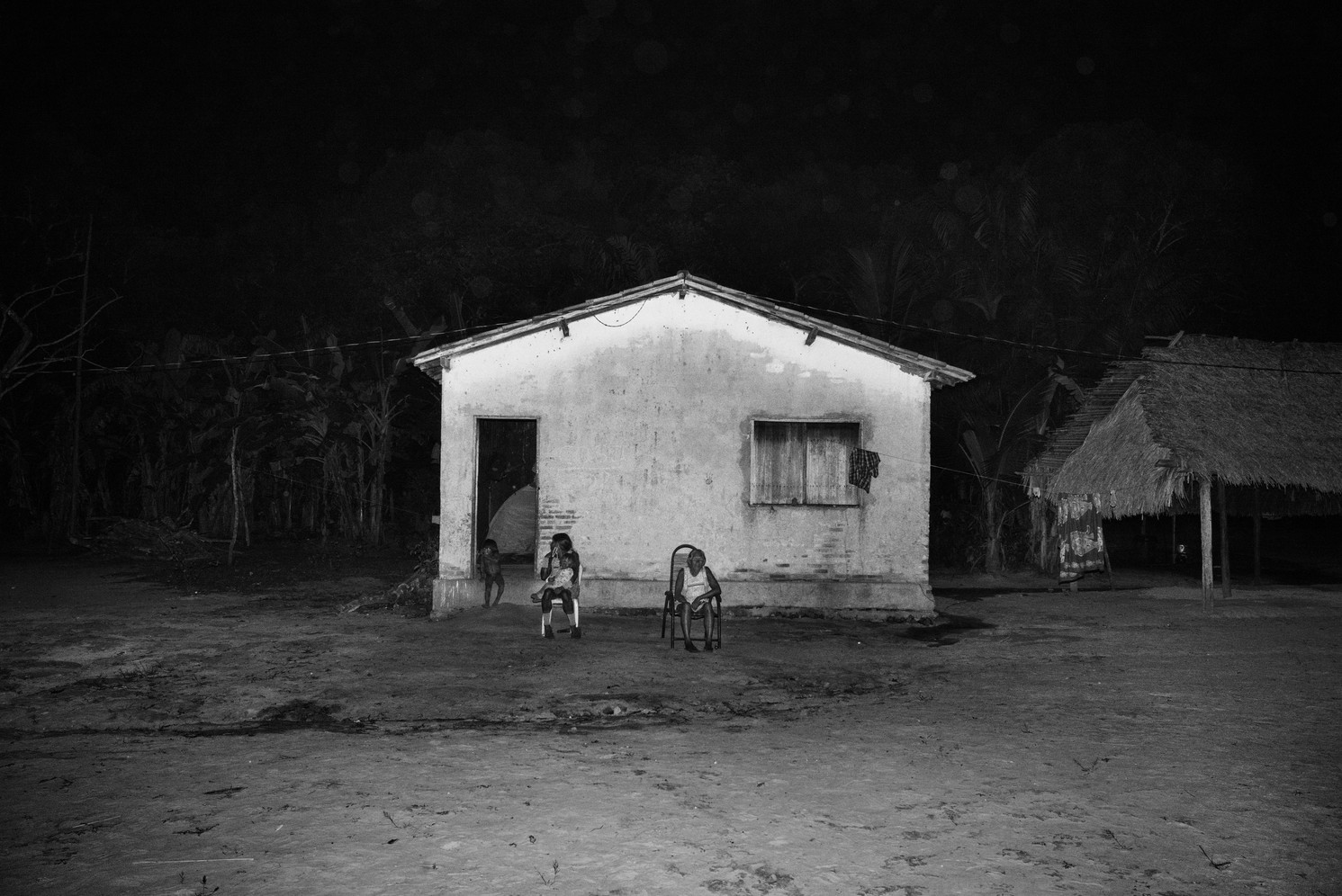 House built in Kubenkrãnken village by illegal loggers who invaded the Kayapo indigenous land in southern Pará state. The Kayapo have only been in contact with non-indigenous society since the 1960s. Their land serves as a crucial barrier to deforestation advancing from the south.