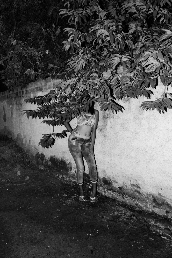 A twenty six year old prostitute coming from Venezuela is portrayed while she was waiting for clients in a street of Boa Vista, the capital of the Brazilian state of Roraima. She crossed into Brazil to raise money to send back to Venezuela to buy medicines for her daughter. She said that had no choice but to resort to prostitution. Nowadays thousands of Venezuelans have crossed into Brazil, in the main cities of the Amazon region like Boa Vista and Manaus, to fled the humanitarian and political crisis in Venezuela.