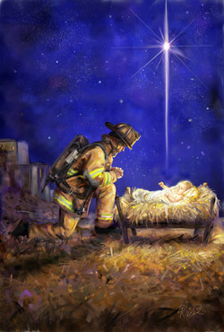 Firefighter Nativity Flag Final Illustration_002