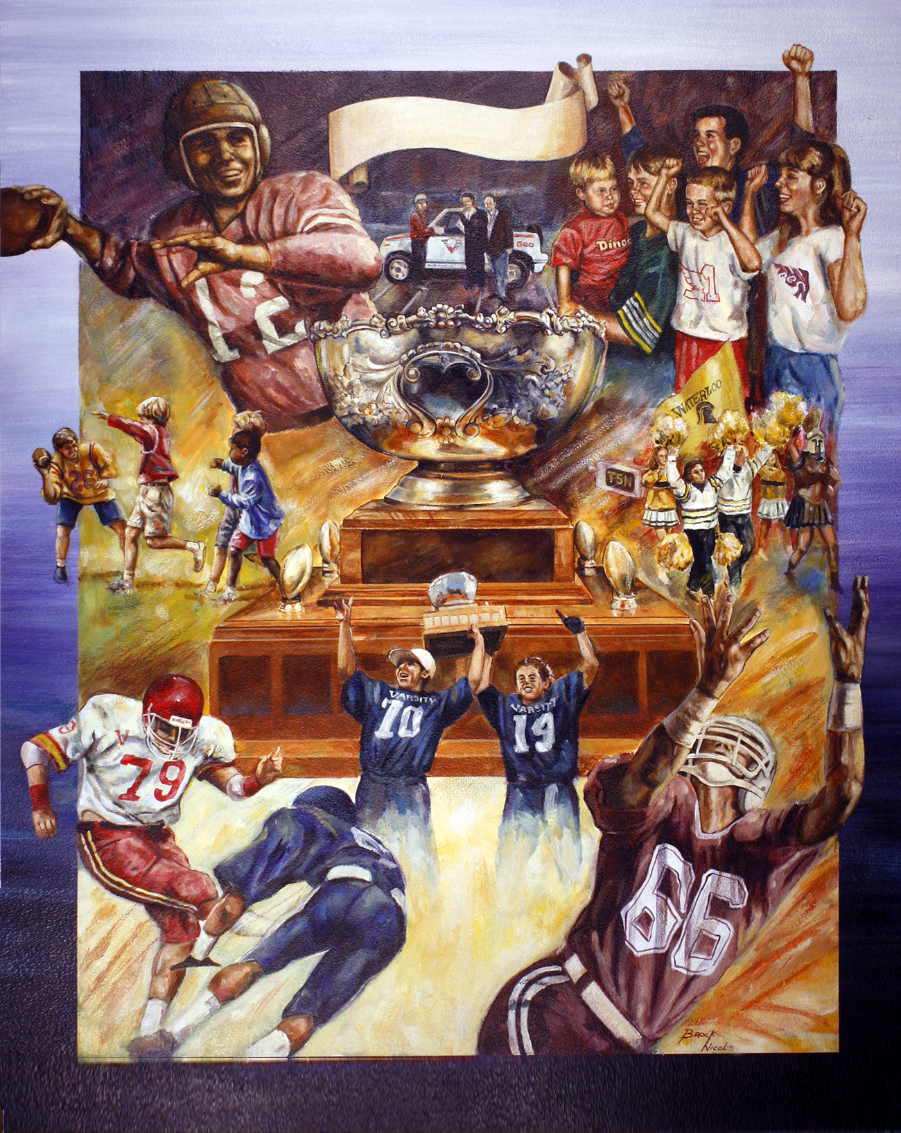 CIS Football Anniversary Poster