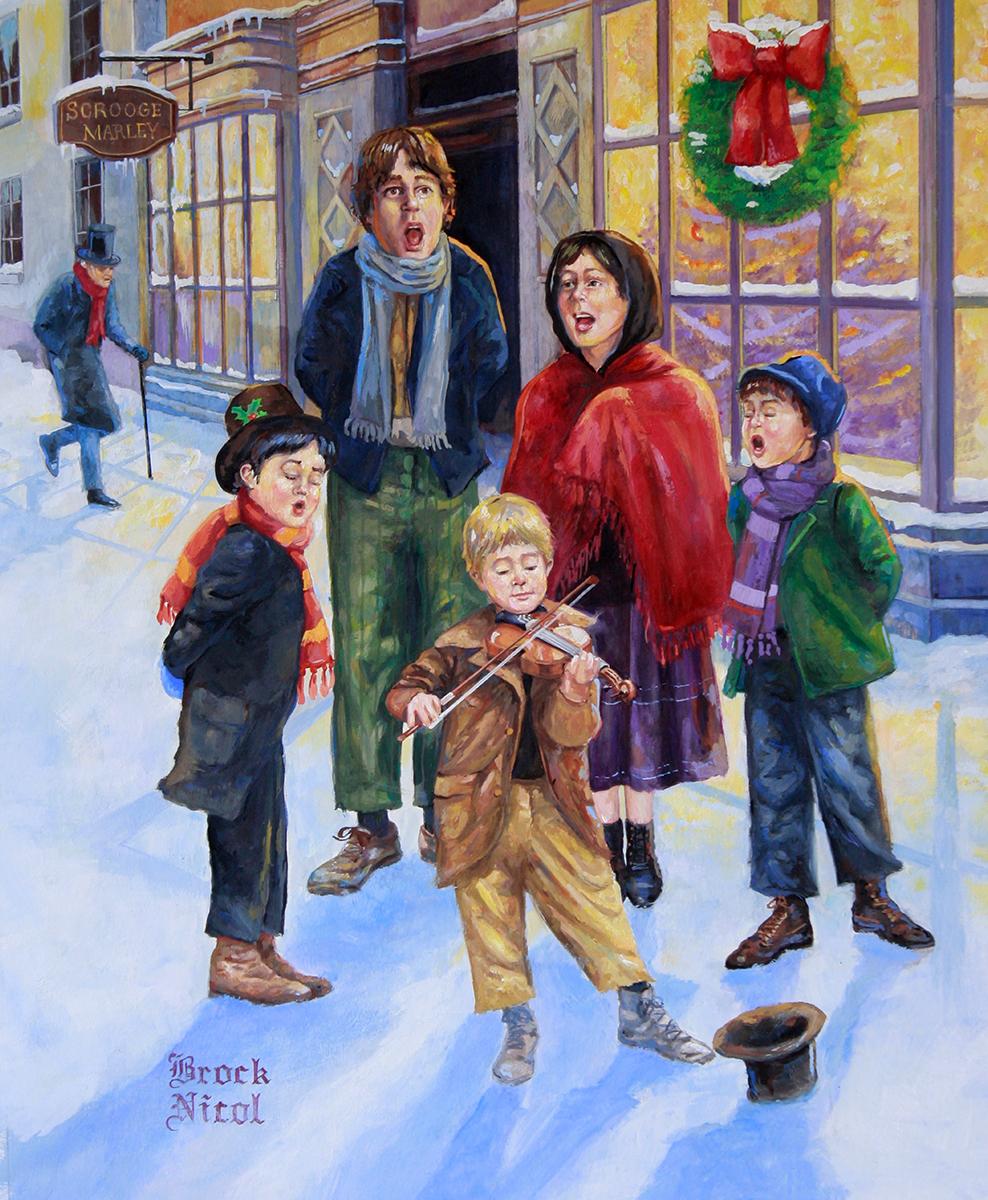 Dickens Christmas Carolers