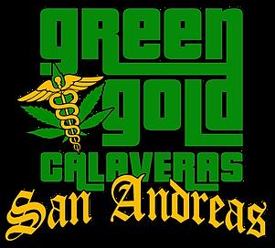 Green Gold San Andreas GTA LOGO NO black