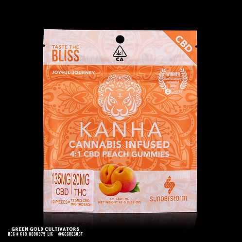 Kanha Treats | 4:1 Peach CBD Gummies