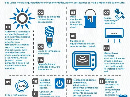 Medidas simples e de baixo custo para ajudar empresas a economizar energia