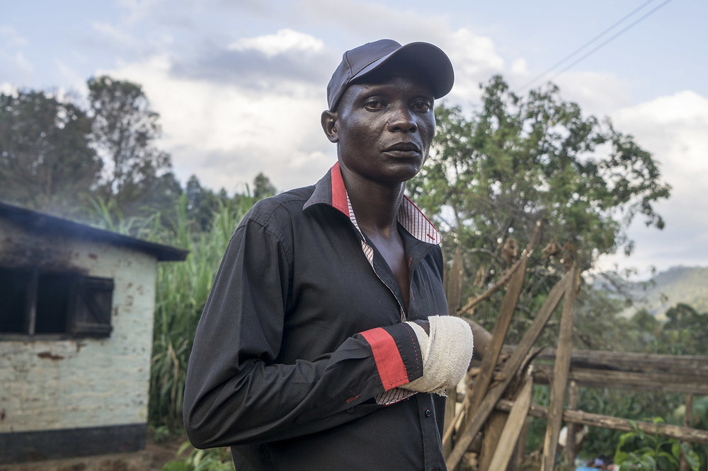 Tichanai Mutungwe, a farmworker in Zimbabwe, couldn't save his daughter from the flood waters. Injured and grieving, he says he must get back to work soon so he can support his family.