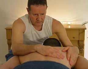 Lawrence Kelson, gay male massage therapist, scapular massage, trapezius, rhomboids
