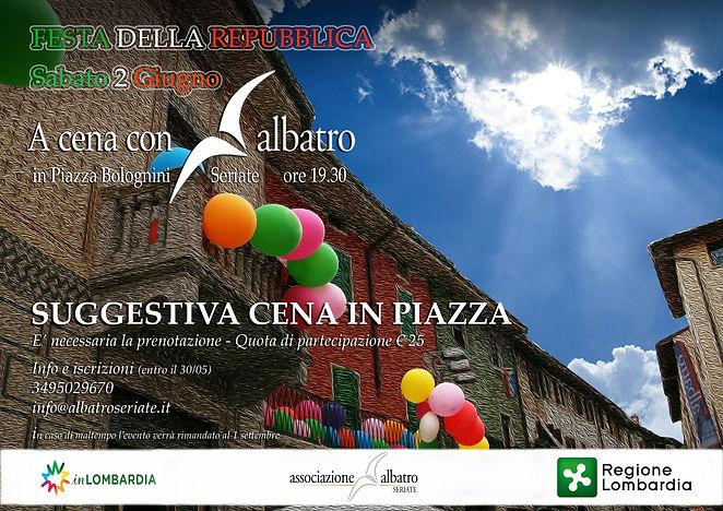 A cena con Albatro Piazza Bolognini 2 giugno