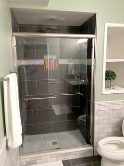 Gray Tiled Shower Area