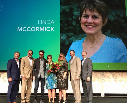 Linda McCormick on stage