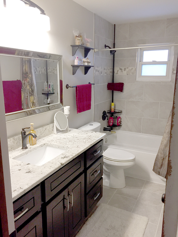 White Furnished Bathroom