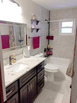 White Furnished Bathroom