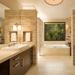 Earth Toned Bathroom