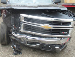 CHEVY TRUCK wrecked