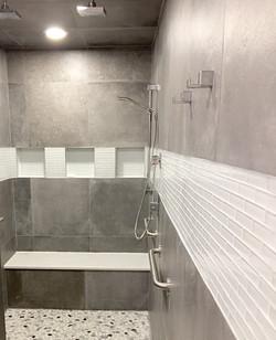 Spacious Shower Area