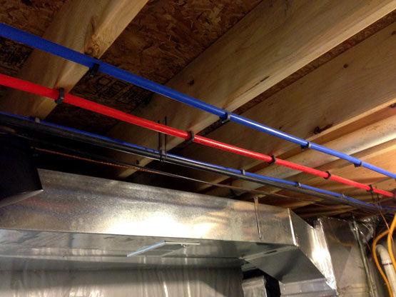 pex plumbing installation