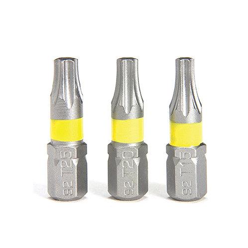 ביטים TORX S-2 צהוב 3 יחידות