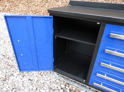 """7' 3"""" 10 Drawer Toolbox with Cabinet"""