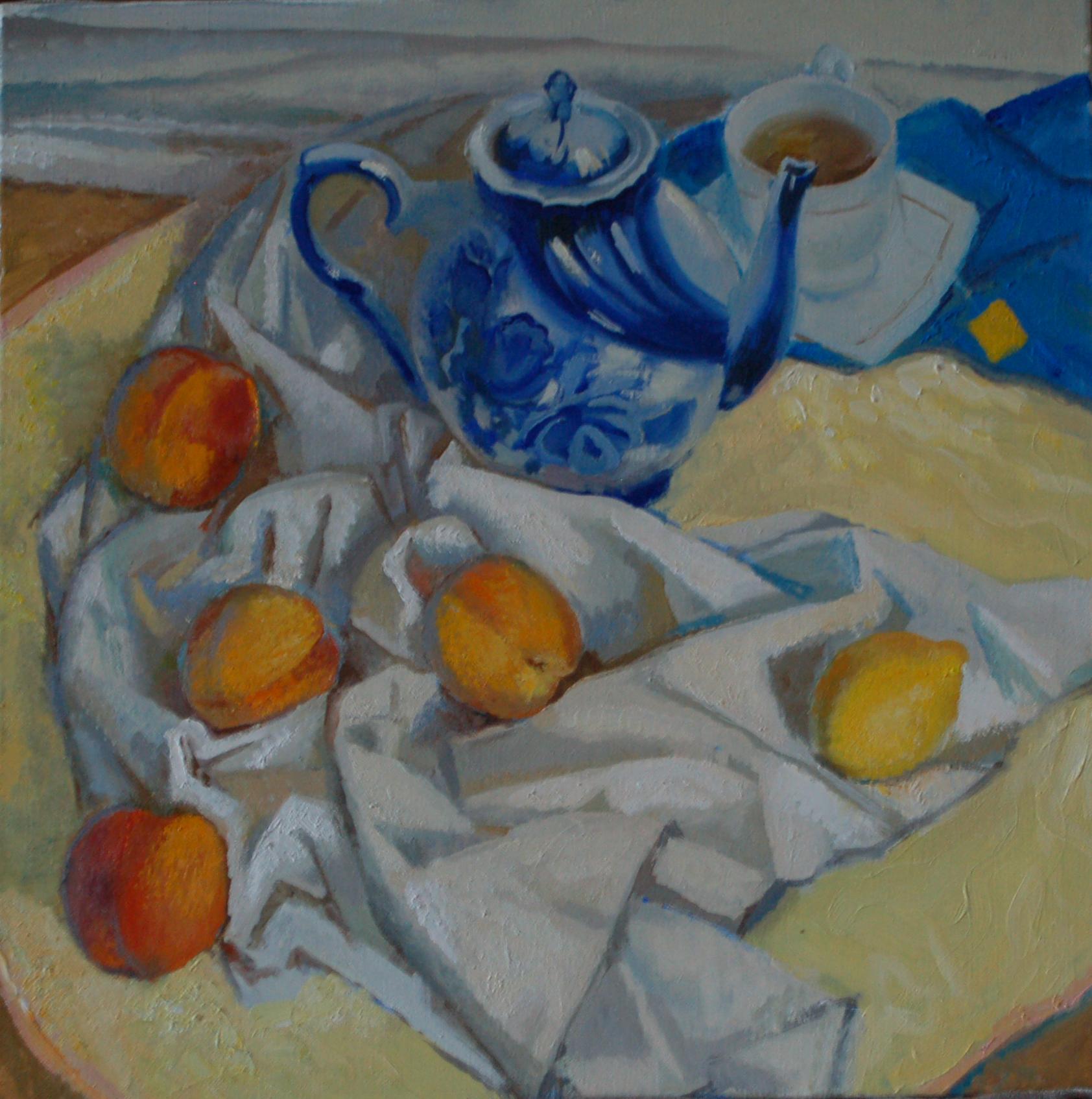 """""""Персики и чайник"""", 2014г."""