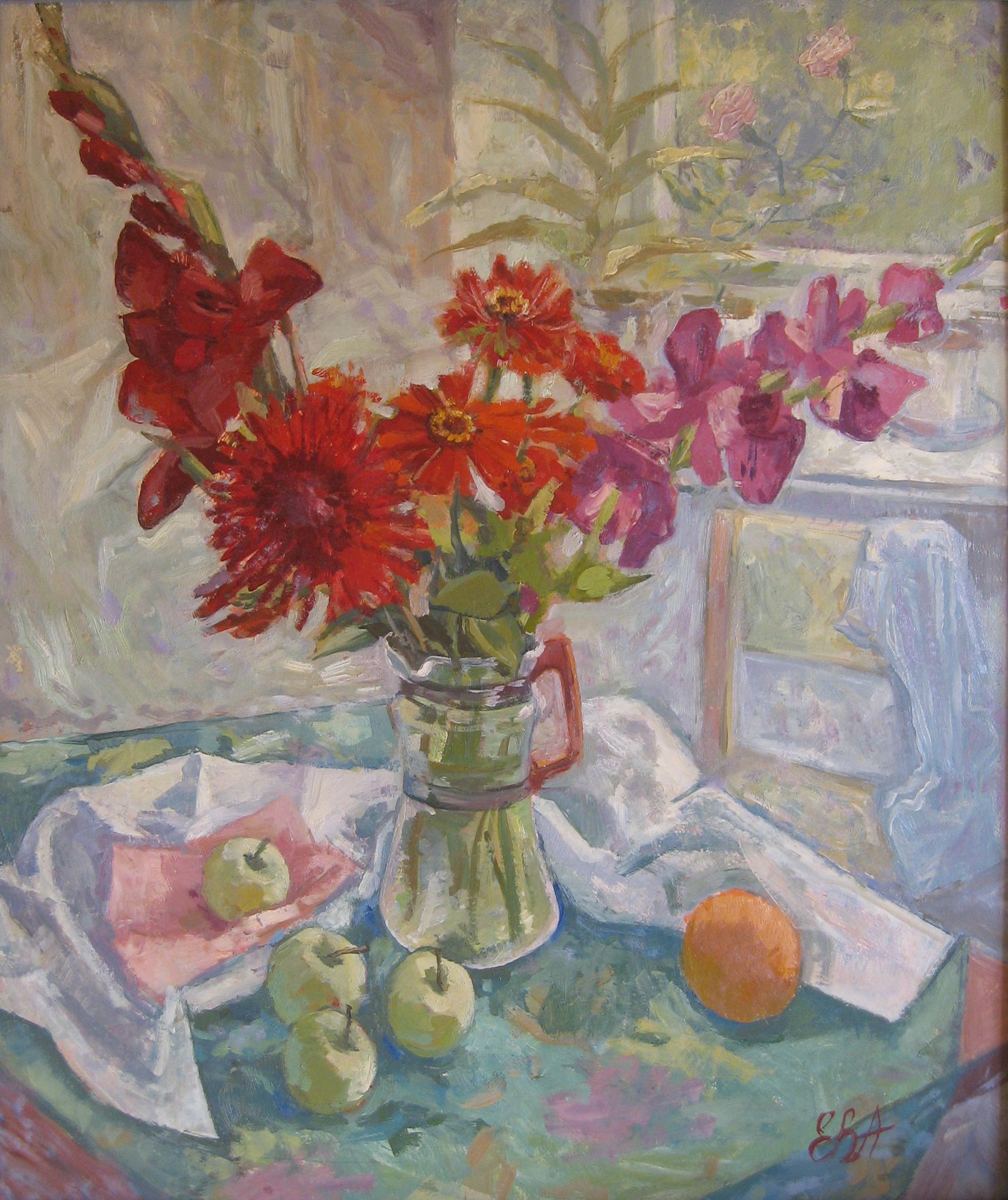 """""""Красные цветы"""", 1996г."""