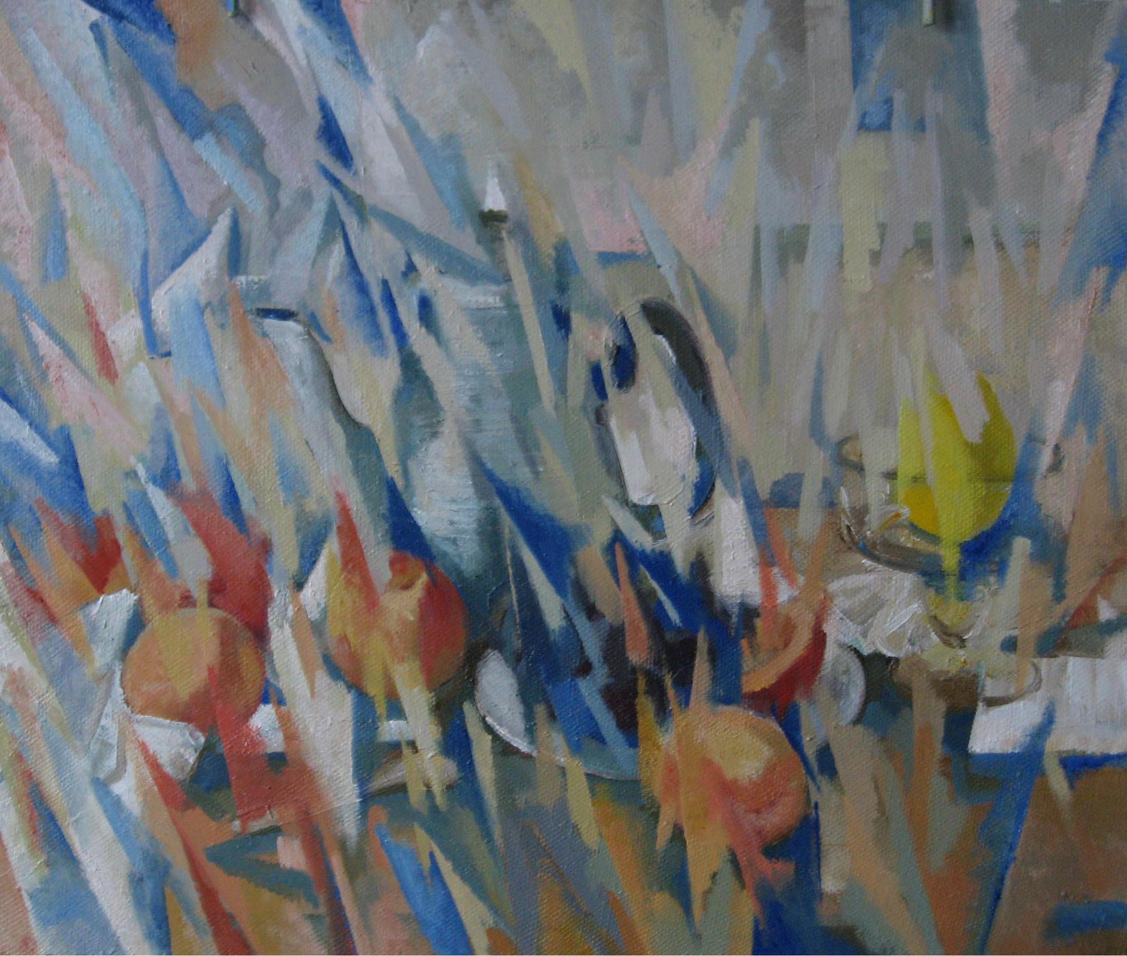 """""""Персики и чайник""""2007г."""