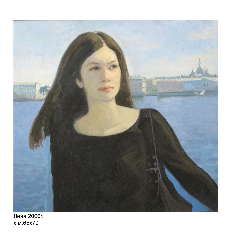 Портрет Лены на набережной