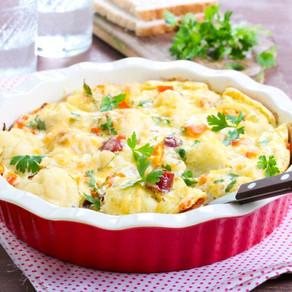 Pastel de coliflor y huevo