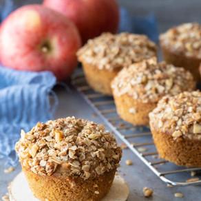 Muffins de manzana con yogurt griego