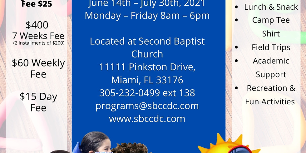 SBC CDS YOUTH ZONE SUMMER CAMP