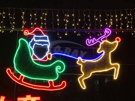 聖誕老人鹿車造型