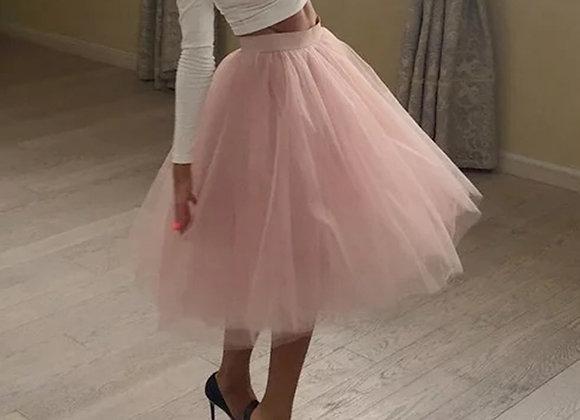 5 Layers Fashion Tulle Skirt Pleated TUTU Skirts Women's Lolita Petticoat