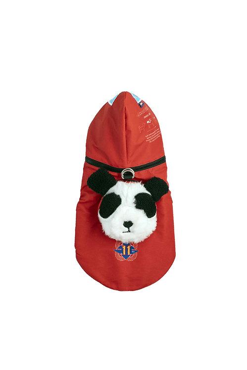 Panda Dog Hoodie Raincoat