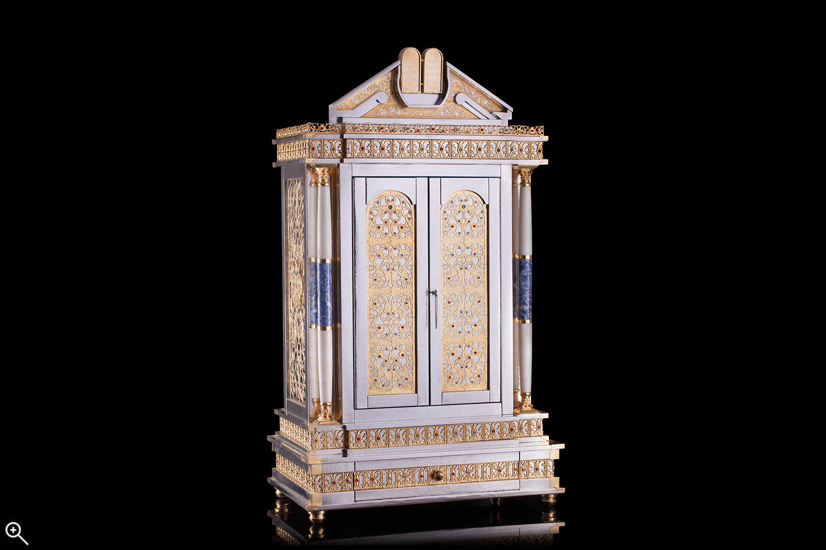 Torah Ark With Lapis & Onyx Pillars