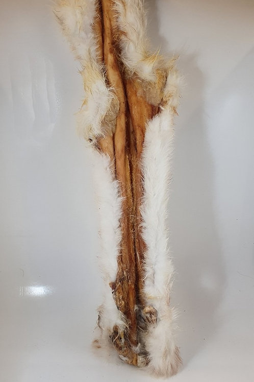 Rabbit Skin with fur 45cm