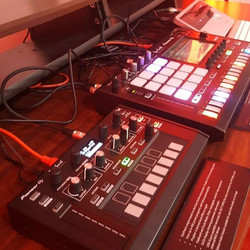 Come by the _pioneerdjusa Booth and check out the new Toraiz As-1 synthesizer #namm #pioneerdj