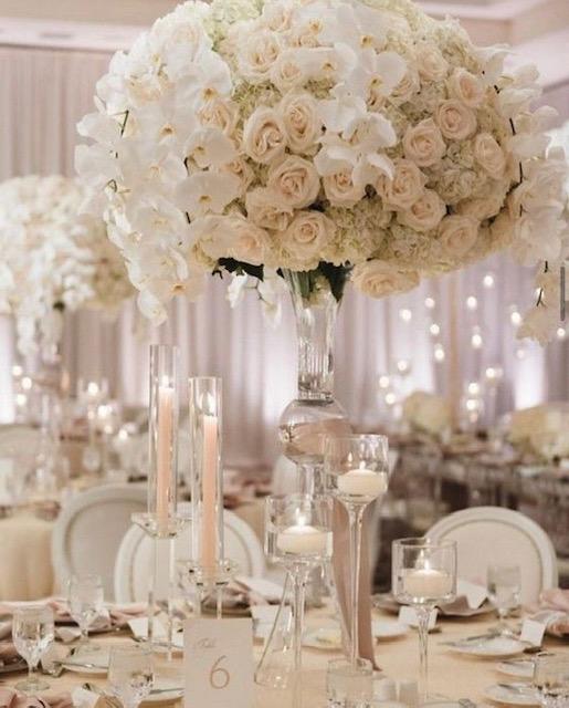 White- High Centerpiece