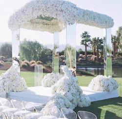 White Floral Chuppah