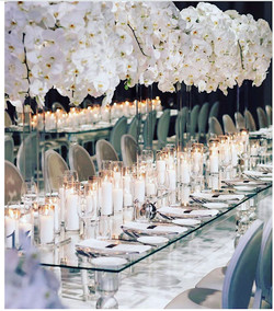 White Orchid- High centerpiece
