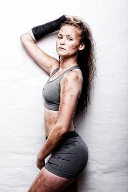 Female soccer player makeup