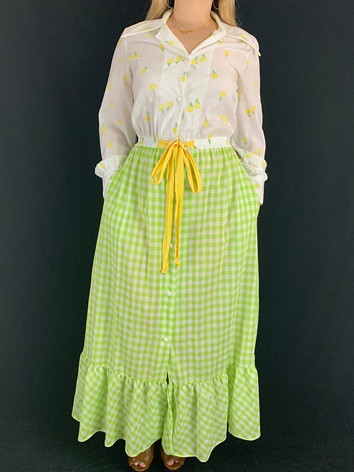 Daisy Gingham Maxi Dress View 1