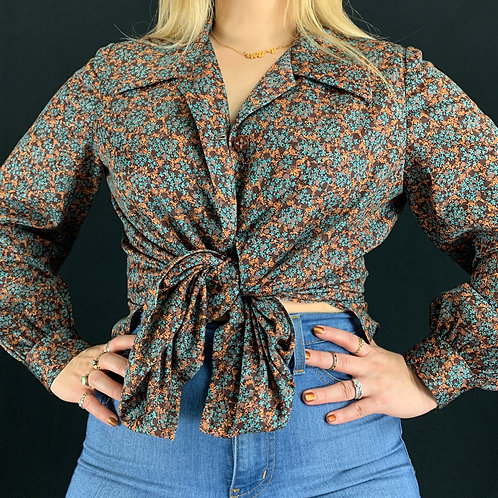 Small Floral Print Handmade Blouse View 1