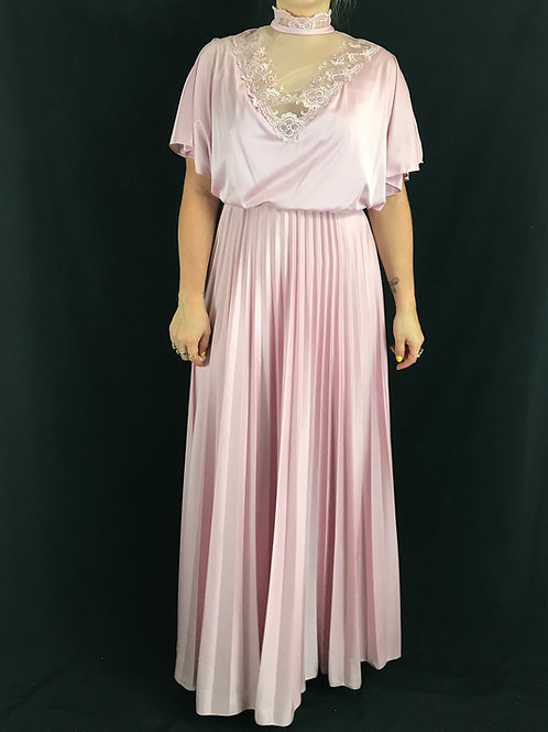 Lilac And Lace Cape Pleated Maxi Dress View 1