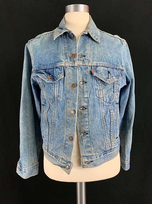 Blue Denim Jacket With Back Patch View 1