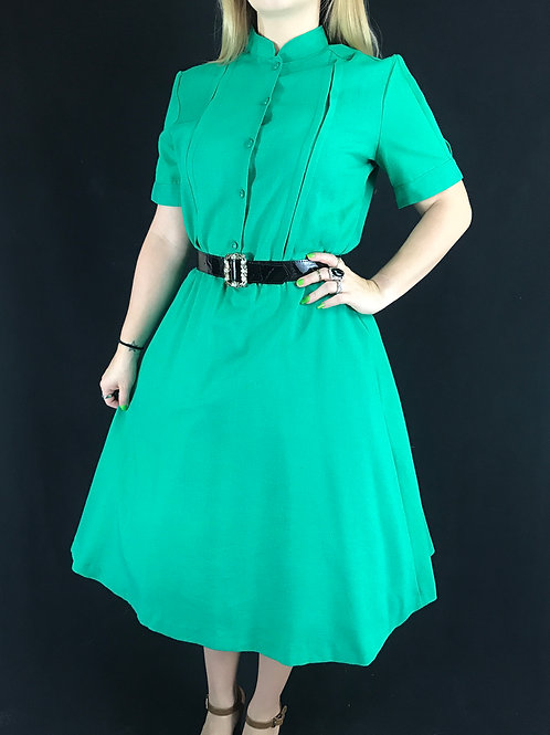 Green Shirtwaist Dress View 1