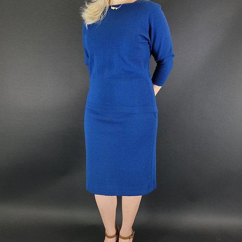 Royal Blue Blouse And Skirt Set View 1