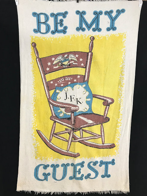 JFK Rocking Chair Beach Towel View 1
