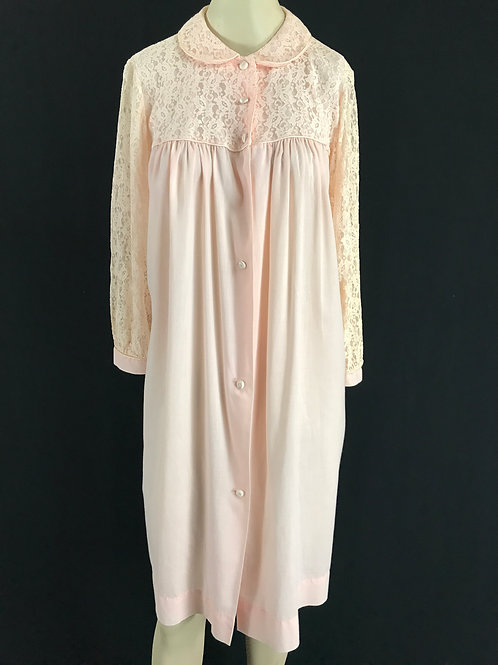 Light Pink Lace Nightgown Robe View 1
