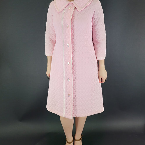 Baby Pink Quilted Housecoat View 1