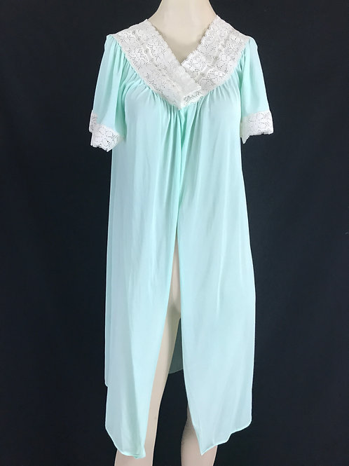 Mint Green With White Lace Nightgown Robe View 1